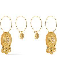 Luv Aj - Woman Gold-tone Crystal Earrings Gold - Lyst