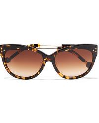 Preen By Thornton Bregazzi | - Chelsea D-frame Acetate Sunglasses - Tortoiseshell | Lyst
