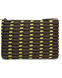 M Missoni - - Metallic Crochet-knit Clutch - Grape - Lyst