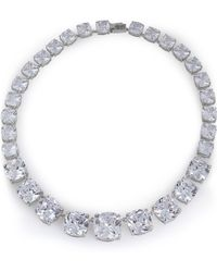 CZ by Kenneth Jay Lane - Silver-tone Crystal Necklace - Lyst