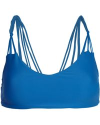 Mikoh Swimwear - Knot-detailed Stretch-knit Bikini Top - Lyst