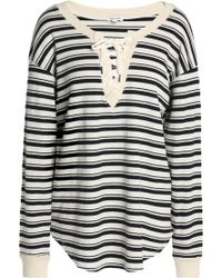 Splendid - Lace-up Striped Intarsia-knit Tunic - Lyst