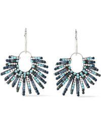 DANNIJO - Woman Kravis Convertible Oxidized Silver-tone Crystal Earrings Sky Blue - Lyst
