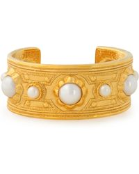 Ben-Amun - Woman Gold-plated Faux Pearl Cuff Gold Size -- - Lyst