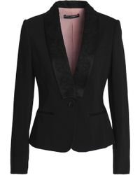 Dolce & Gabbana - Satin And Lace-trimmed Wool-blend Jacket - Lyst