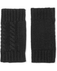Autumn Cashmere | Fingerless Cable-knit Cashmere Gloves | Lyst