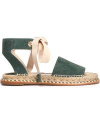 Paloma Barceló - Lace-up Suede Sandals - Lyst