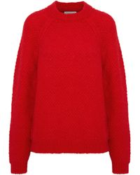 Sandro - Judie Brushed Bouclé-knit Mohair-blend Sweater - Lyst
