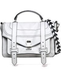 Proenza Schouler - Ps1 Medium Glossed Textured-leather Shoulder Bag - Lyst
