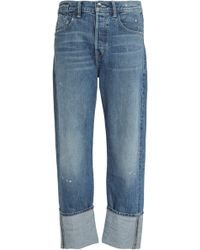 Helmut Lang - Faded Mid-rise Straight-leg Jeans Mid Denim - Lyst