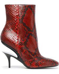 Maison Margiela - Python Ankle Boots - Lyst