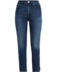 3x1 - Faded High-rise Skinny Jeans Dark Denim - Lyst