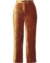 A.L.C. - Cropped Velvet Wide-leg Trousers - Lyst