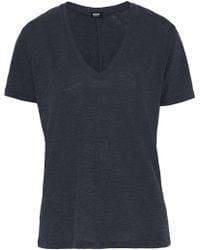 Monrow - Slub Jersey T-shirt Midnight Blue - Lyst