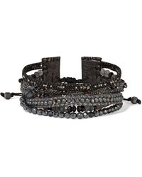 Chan Luu - Sterling Silver Beaded Leather Bracelet - Lyst