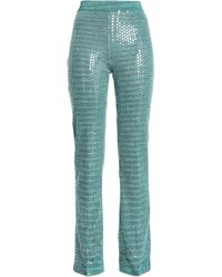 Missoni - Sequin-embellished Metallic Jacquard-knit Straight-leg Trousers - Lyst