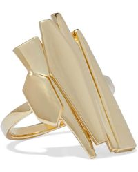Noir Jewelry - Adaptation 14-karat Gold-plated Ring - Lyst