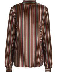 Vanessa Bruno - Striped Silk Blouse - Lyst