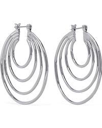 Luv Aj - Silver-tone Hoop Earrings - Lyst
