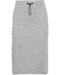 Rag & Bone - Mélange French Cotton-terry Skirt Gray - Lyst