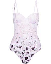 La Perla - Floral-print Swimsuit - Lyst
