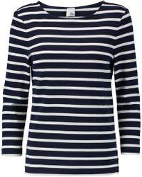 Iris & Ink - Madeline Breton Striped Cotton Top - Lyst