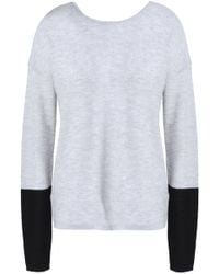 Duffy - Two-tone Cashmere And Merino Wool-blend Jumper Light Grey - Lyst
