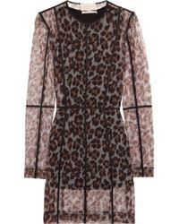 Christopher Kane - Leopard-print Stretch-mesh Mini Dress - Lyst