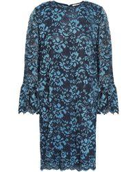 Ganni Flynn Lace Mini Dress Cobalt Blue