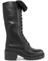 Marc By Marc Jacobs | Leigh Shearling-trimmed Leather Boots | Lyst