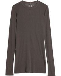 Rick Owens - Ribbed Stretch-jersey Top - Lyst