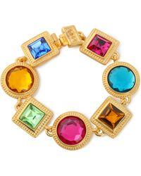 Ben-Amun - Woman Gold-plated Crystal Bracelet Gold Size -- - Lyst
