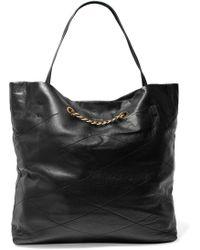 Lanvin - Woman Sugar Medium Leather Tote Black - Lyst