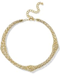 Kenneth Jay Lane - Woman Gold-tone Choker Gold - Lyst
