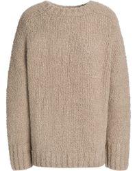 Vince - Bouclé-knit Wool Sweater - Lyst