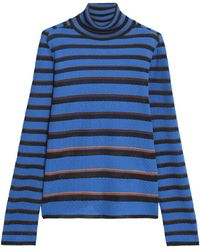 Missoni - Striped Crochet-knit Turtleneck Jumper - Lyst