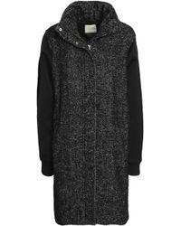 By Malene Birger - Satin-paneled Wool-blend Coat - Lyst