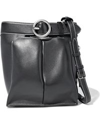 Acne Studios - Buckle Jeans Leather Bucket Bag - Lyst