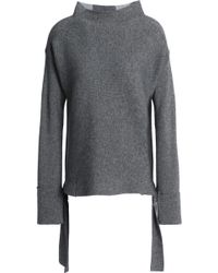 Duffy - Color-block Wool And Cashmere-blend Sweater - Lyst