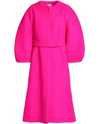 Delpozo - Wool-felt Coat - Lyst