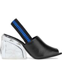 3.1 Phillip Lim - Leather And Plexiglas Slingback Mules - Lyst