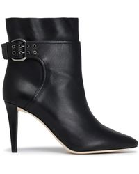 Jimmy Choo - Major Buckled Leather Ankle Boots - Lyst