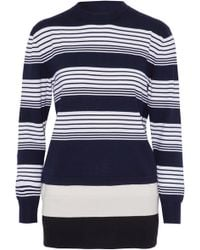 JW Anderson - Layered Striped Merino Wool Sweater - Lyst