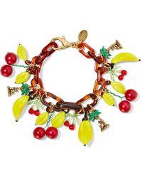 Erickson Beamon - Copacabana Gold-plated, Enamel And Acrylic Bracelet - Lyst