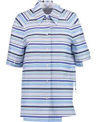 Agnona - Striped Cotton Shirt - Lyst