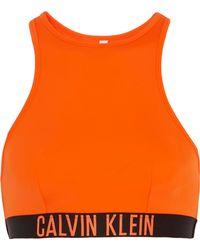CALVIN KLEIN 205W39NYC - Cutout Stretch-jersey Bikini Top - Lyst
