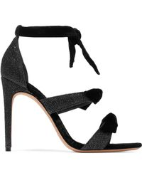 Alexandre Birman - Mary Knotted Velvet And Metallic Woven Sandals - Lyst