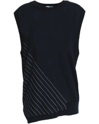 DKNY - Striped Cotton Top Midnight Blue - Lyst