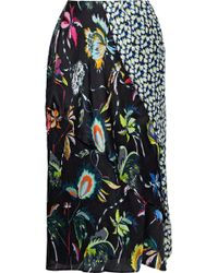 Jason Wu - Paneled Printed Silk-georgette Skirt - Lyst