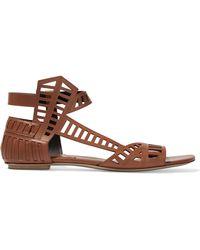 Daniele Michetti Leather Sandals